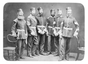 Light infantry from the 65th Foot, 1860's. Beards, wonderful beards!