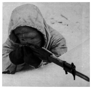 Ensconced in the snow, his white camouflage suit rendering him invisible to the invading Soviet soldiers he stalked, Simo Häyhä steadied himself to fire. During the 1939–1940 Winter War, in temperatures as low as –40 °C, the Finnish sniper undertook a killing spree that saw him single-handedly take the lives of at least 700 men in less than 100 days. Over 500 of these he shot using a standard, bolt-action rifle with non-telescopic sights. Is it any wonder he earned the nickname White Death among his enemies? Meet the man who would take Rambo to the cleaners.