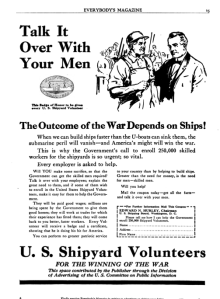Recruiting advertisement from the Everybody's Magazine of 1918.