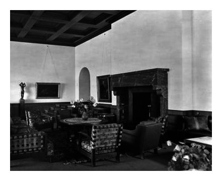 The fireplace in 1938