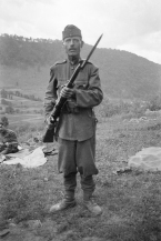 Hungarian soldier with an M95, 1940